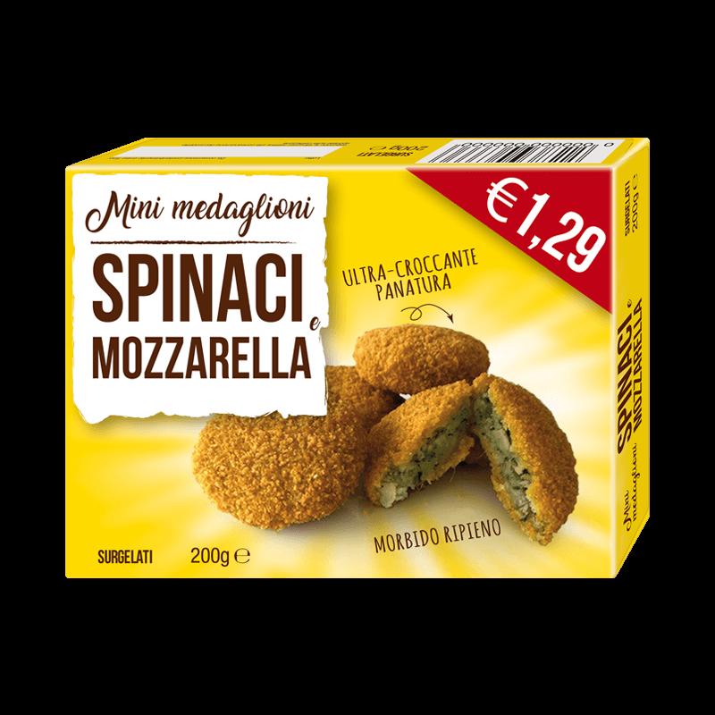 Minimedaglioni spinaci & mozzarella