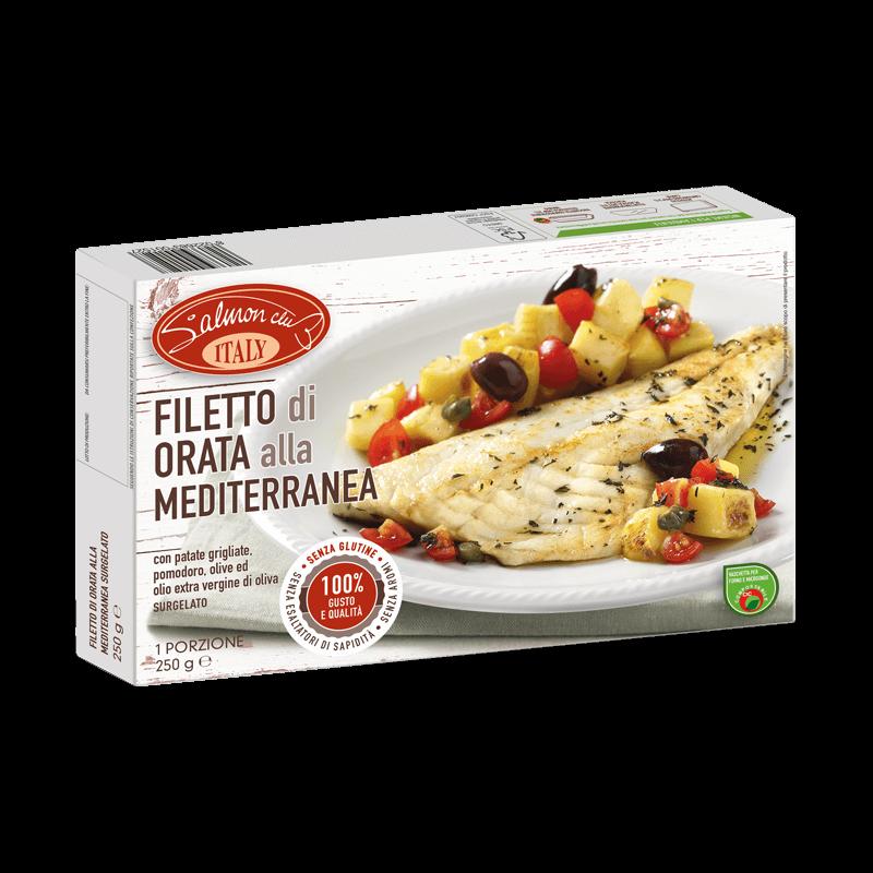Filetto di Orata Mediterranea con patate, pomodoro ed olio extravergine di oliva