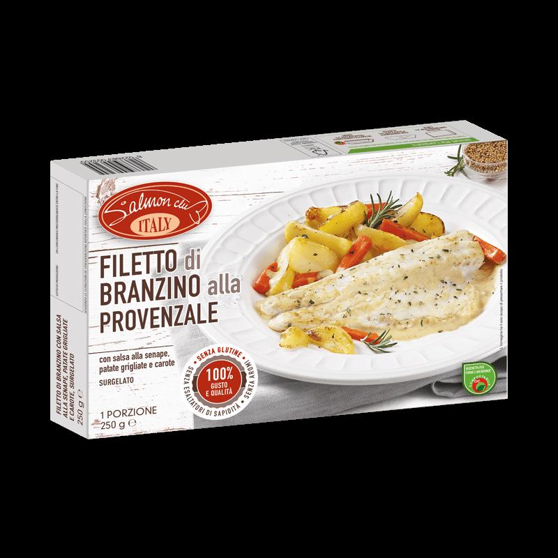 Filetto Branzino alla Provenzale con salsa alla senape